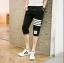 กางเกงขาสั้น3ส่วน JOGGER BLACK/WHITE STRIPED thumbnail 2