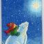 แนวภาพสัตว์ เด็กน้อยขี่หมีขาวมองดูพระจันทร์ ภาพโทนสีน้ำเงิน เป้นภาพ 4 บล๊อค กระดาษแนพคินสำหรับทำงาน เดคูพาจ Decoupage Paper Napkins ขนาด 21X22cm thumbnail 1
