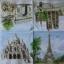 แนวภาพ Landmark ปารีส ฝรั่งเศส กระดาษแนพกิ้นสำหรับทำงาน เดคูพาจ Decoupage Paper Napkins เป็นภาพสไตย์ภาพวาดสีน้ำ ขนาด 33X33cm thumbnail 2