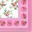 แนวภาพลายแต่ง ภาพดอกไม้สีชมพูบนพื้นขาว ล้อมด้วยขอบลายผ้าลูกไม้สีชมพู กระดาษแนพกิ้นสำหรับทำงาน เดคูพาจ Decoupage Paper Napkins ขนาด 33X33cm สำเนา thumbnail 1