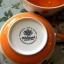 ถ้วยซุปลายจุด ลายจุดน้ำเงิน ส้ม Polka Dot บนพื้นขาว มาเป็นเซต 2 ใบค่ะ Whittard Chelsea 1886 thumbnail 2