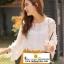 เสื้อชีฟองแขนยาวสีขาว ปักลายเส้นดอกไม้สไตล์ 3D สวมใส่สบาย thumbnail 2