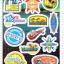 STGP003 สติกเกอร์ Sticker กระดาษเคลือบกันน้ำ ลายการ์ตูน กราฟฟิก วินเทจ สวย เท่ห์ ติดกระเป๋า ของใช้ ตู้ ผนัง ตกแต่งสิ่งของ thumbnail 2