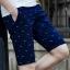 กางเกงขาสั้นแฟชั่นเกาหลี ลายก้างปลา สีน้ำเงิน thumbnail 1
