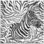 แนวภาพซาฟารี ม้าลายในพื้นลายหนังม้าลาย เป็นภาพ 4 บล๊อค กระดาษแนพกิ้นสำหรับทำงาน เดคูพาจ Decoupage Paper Napkins ขนาด 33X33cm thumbnail 1