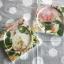 ที่รองแก้ว แพ็คคู่ ลายดอกกุหลาบส้มแบบวินเทจ มีร่องรองน้ำค่ะ thumbnail 1