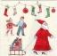 แนวภาพ Chirstmas Christmas Tree & Santa เป็นภาพแนวยาว กระดาษแนพกิ้นสำหรับทำงาน เดคูพาจ Decoupage Paper Napkins ขนาด 33X33cm thumbnail 1