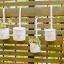 Pre-Order กระถางต้นไม้ทรงกลม แบบแขวน เหล็กเคลือบสี ปั๊มลาย Bonne Journee Zakka มี 2 ขนาด thumbnail 7