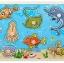 ของเล่นไม้ จิ๊กซอว์ไม้หมุดดึงภาพสัตว์ทะเล thumbnail 1
