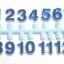 ชุดตัวเลขสำหรับประกอบนาฬิกา สีน้ำเงินขอบฟ้า ตัวเลขสูง 9มม อุปกรณ์ DIY thumbnail 1