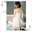 SP075 ชุดนอนกระโปรงยาว ประดับด้วยผ้าลูกไม้ สวยหวาน มี 2 สี สีขาว สีชมพู thumbnail 7