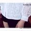 VS042 เสื้อเชิ้ต สีขาว ผ้าลูกไม้ มีซับใน คอปก กระดุมผ่าหน้า งานสวยคะ thumbnail 14