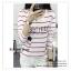 GP012 เสื้อยืด แขนยาว สีขาว ลายขวาง สลับแดง พิมพ์ลายการ์ตูน สวยเก๋ เนื้อผ้ามีความยืดหยุ่น ขนาด Free size รอบอกไม่เกิน 38 นิ้ว thumbnail 2