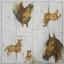 แนวภาพสัตว์ ภาพวาดม้า บนพื้นขาว ภาพแนวยาว กระดาษแนพคินสำหรับทำงาน เดคูพาจ Decoupage Paper Napkins ขนาด 21X22cm thumbnail 2