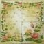แนวภาพดอกไม้ ดอกบัวสีชมพูส้ม บนพื้นโทนครีม เป็นกรอบเต็มแผ่น กระดาษแนพกิ้นสำหรับทำงาน เดคูพาจ Decoupage Paper Napkins ขนาด 33X33cm thumbnail 2