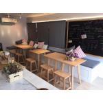 โต๊ะเหลี่ยม ดีไซน์ขาเฉียง+เก้าอี้สตูล สไตล์ญี่ปุ่น (ZANI SET)