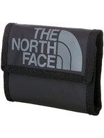 The North Face - Base Camp Wallet สีดำ โลโก้เทาขาว