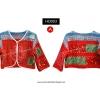 เสื้อเอวลอย แขนสั้น ผ้าชาวเขา HDJ 003 A / Hmong Jacket HDJ 003 A