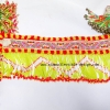 ผ้าคาดเอวลูกปัดจากม้งจีน L/ Vintage Hmong Fabric hand made beaded L
