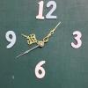 ชุดตัวเครื่องนาฬิกาญื่ปุนเดินเรียบ เข็มลายโมเดิน ขนาดเล็ก เข็มสั้น-เข็มยาวสีทอง เข็มวินาทีสีเงิน อุปกรณ์ DIY