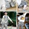 hunazhu kids  กางเกงเด็ก ลายม้าลาย เทห์ๆ สไตล์เกาหลี
