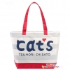 Authentic!! CATs Tsumori Chisato Shopping Bag กระเป๋าสะพายไหล่ใบใหญ่ CATs Tsumori Chisato คลีน เรียบๆ style ญี่ปุ่น