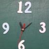 ชุดตัวเครื่องนาฬิกาญื่ปุนเดินเรียบ เข็มลายโมเดิน ขนาดกลาง เข็มสั้น-เข็มยาวสีเขียว เข็มวินาทีสีแดง อุปกรณ์ DIY สำเนา