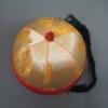 หมวกฮองเต้ ทรงแมนจู สีทอง ขนาดรอบศรีษะ 52 Cm