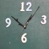 ชุดตัวเครื่องนาฬิกาญื่ปุนเดินเรียบ เข็มลายโมเดิน ขนาดกลาง เข็มสั้น-เข็มยาวสีดำ เข็มวินาทีสีเงิน อุปกรณ์ DIY