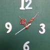 ชุดตัวเครื่องนาฬิกาญื่ปุนเดินเรียบ เข็มลายโมเดิน ขนาดกลาง เข็มสั้น-เข็มยาวสีแดง เข็มวินาทีสีขาว อุปกรณ์ DIY
