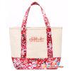 ##สินค้าหมด##  ของแท้เท่านั้น!! JILL STUARD Flowery Mini Shopping Bag กระเป๋า JILL STUARD คอลเล็คชั่นดอกไม้ สดใส สีขาว สาย แดง-ชมพูสดใส สะดุดทุกสายตา