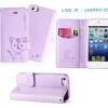Leiers Domi Cat Series Stand Leather Cover w/ Strap for Samsung Galaxy E7