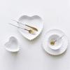 Pre-Order ชุด ถ้วย จาน ชาม เซรามิค สไตล์ Nordic สีขาวทรงหัวใจ ขอบหยัก มี 4 แบบ