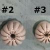 """มือจับ ปุ่มแขวน เม็ดมะยม เซรามิค สีขาว แต่งด้วยเส้นสีทอง มี 4 ขนาด ตั้งแต่ 3/4"""" - 1 1/4"""""""