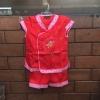 ชุดจีนเด็กหญิง 2 ชิ้น เสื้อ+กางเกง สีแดง ปักลายรูปพัด ผ้าเนื้อนิ่มมากค่ะ
