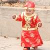 ชุดจีนเด็กชาย(ชุดฮองเต้เด็ก) 3ชิ้น เสื้อ+เสื้อกั้กสีแดง+หมวก