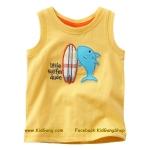 เสื้อกล้ามเด็ก ลาย ปลา ไซส์ 18-24ด,2,3,4,5,6ปี