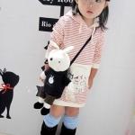 ชุดเด็ก(เดรสเด็กหญิง เสื้อลูกสาว ลายชมพู-แดง B2W2 ไซส์ 110,120