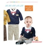 เสื้อ+กางเกงสีน้ำเงิน ไซส์ 80-90-100-110-120