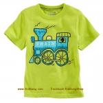 เสื้อเด็กเนื้อนิ่ม ลาย Train1 ไซส์ 18-24ด,2,4,5 ปี