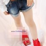 กางเกงยีนส์เด็กขาสั้น+เข็มขัดสีน้ำตาล ไซส์ 11