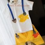 ชุดเด็กYellow_Fish(เซท) ไซส์ 23ด (เสื้อเด็ก+กางเกงเด็ก)