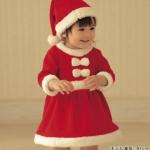 ชุดกระโปรงซานตี้ ผ้าสำลีขูดขน พร้อมหมวก น่ารักสไตล์เกาหลี