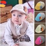 หมวกเด็กแต่งสี ปักเลข 5 เทห์ๆน่ารักสไตล์เกาหลี