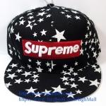 [259 บาทส่งฟรี] หมวก Supreme ลายดาว - ดำ