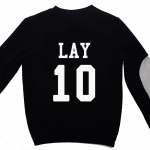 เสื้อ EXO SBS Inkigayo Black / Lay