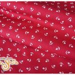 ผ้าคอตตอนไทยลายสมอเล็กสีแดง (ขนาด 50x55ซม)