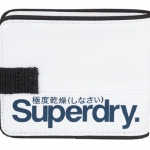 Superdry - Tarpaulin Wallet สีขาวโลโก้ น้ำเงิน white / Bluenavy - normal size