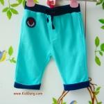 กางเกงเด็กปลายขาพับสีฟ้า ไซส์ 2Y