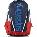 Super Dry - Tarp Pop Backpack Navy/Red